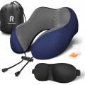 Подушка для путешествий RoadLike Travel Kit с эффектом памяти, синий Уценка 2371