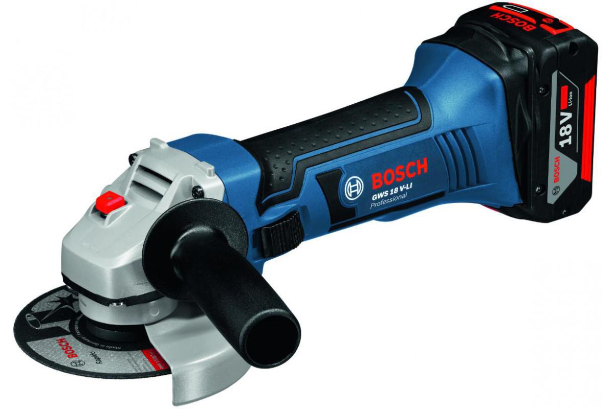 Углошлифовальная машина акк. Bosch Bosch GWS 18 V-LI (0.601.93A.300)  18.0В LiION 10000об/мин 115мм кор. без акк.
