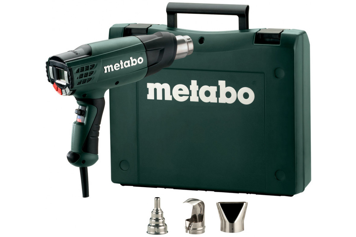 Фен технический Metabo HE 23-650 CONTROL (602365500)  2300Вт 50-650С 150-250/150-500/500л/мин ЖК-дисплей