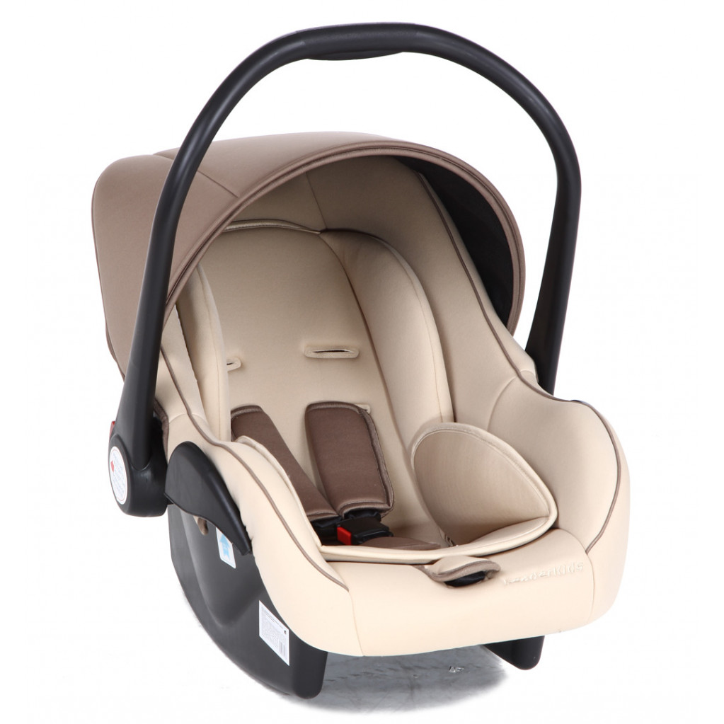 Lider Kids Baby Leader - детское автокресло 0-13 кг коричневый (корчинево-бежевый)