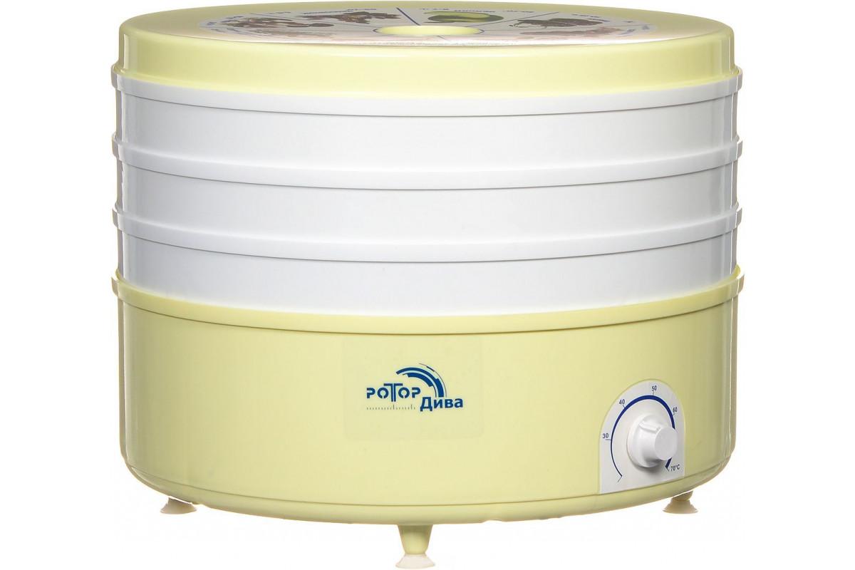 Сушка для фруктов и овощей Ротор Дива СШ-007-04 3под. 520Вт белый