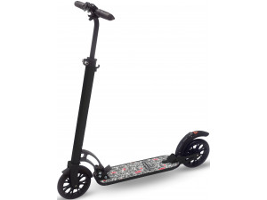 Самокат взрослый INDIGO CITY до 100 кг, колеса 200 мм, IN051, Черный,
