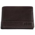 Портмоне Zippo, цвет коричневый, натуральная кожа, 11,2×2×8,2 см