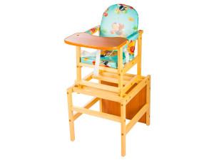 ПМДК Октябренок - стул-стол для кормления Лужок Светлый дуб