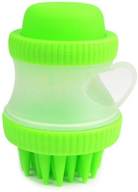 Многофункциональная массажная моющая СПА-щетка для собак и кошек, зеленый