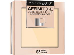 Maybelline Компактная пудра выравнивающая Affinitone 03 светло-бежевый