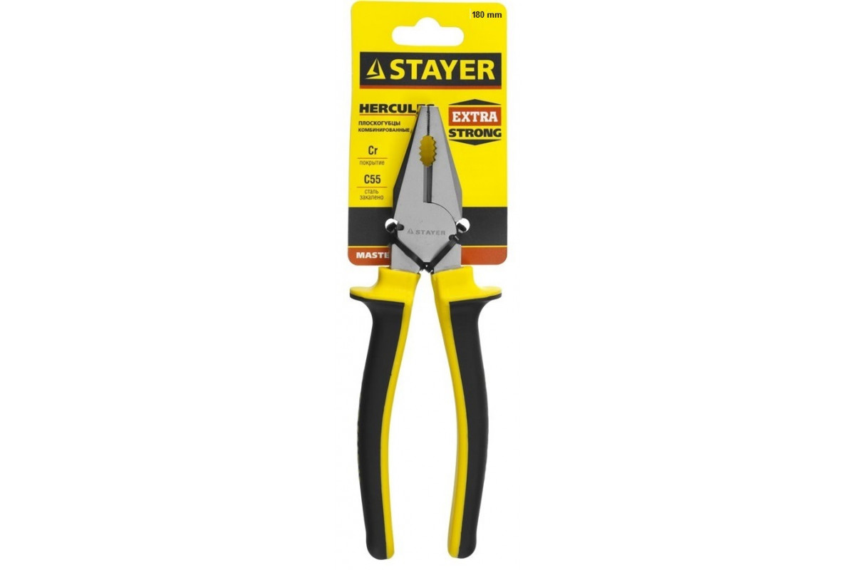 Плоскогубцы STAYER HERCULES Professional 2203-1-18, 180мм