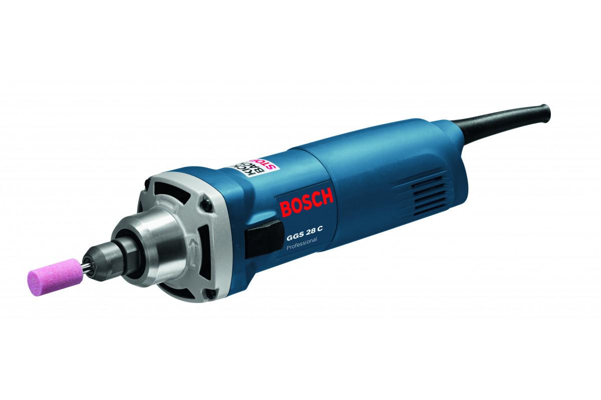Шлифмашина прямая Bosch GGS 28 C (0.601.220.000)  600Вт 28000об/мин 6мм