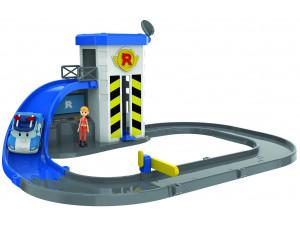 Robocar Poli Набор Подъемник с металлической машинкой Поли и фигуркой Джин