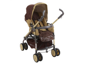 BabyLux Carita 205S (8 колес) - прогулочная коляска Moca коричневая