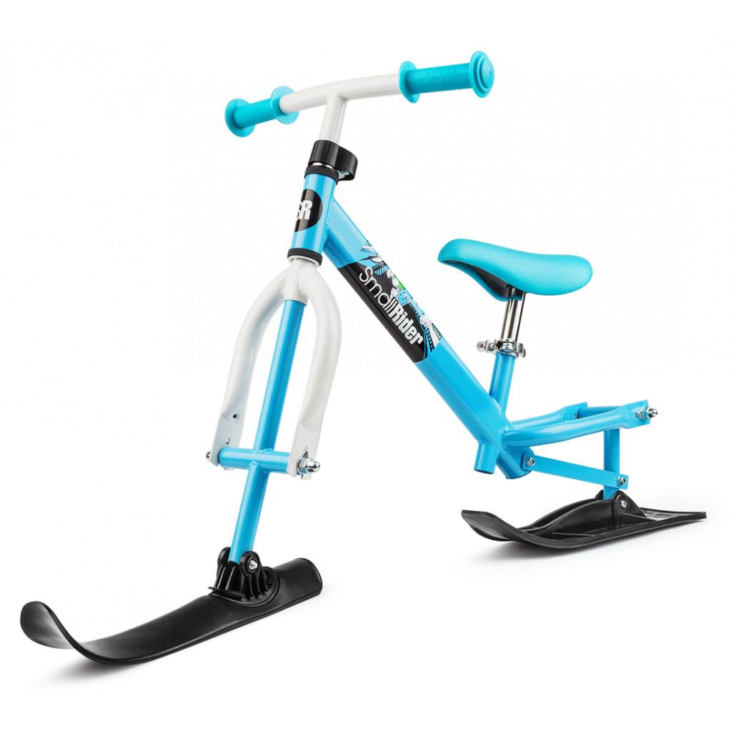 Small Rider Combo Racer - беговел с лыжами и колесами 2 в 1 бело-синий