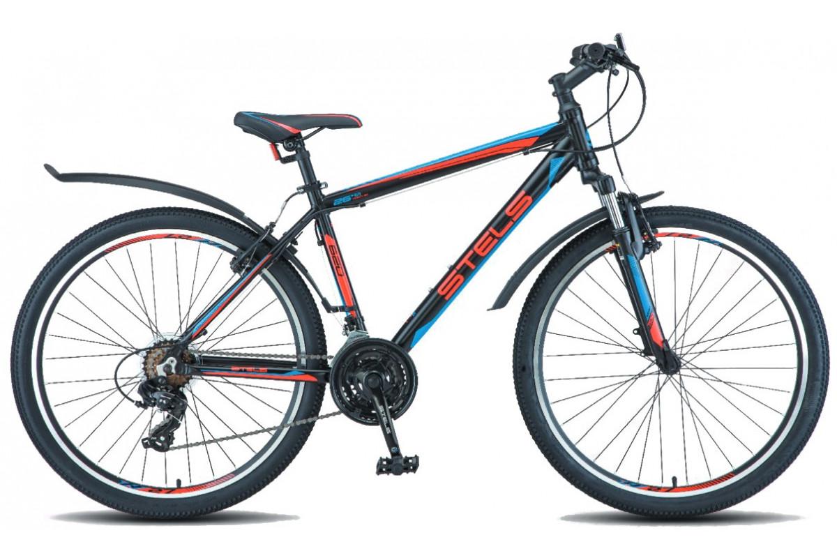 """Велосипед Stels Navigator 620 V V010 Чёрный/Красный/Синий (LU088805) 19"""""""