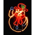 Фигура из дюралайта SHLights Снеговик, светодиоды, уличная, желтый/красный/синий I-R-LDP6SN