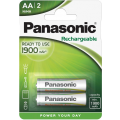 Аккумуляторы Panasonic HHR-3MVE/2BC AA Ni-Mh Ready to use в блистере 2шт 1900мАч