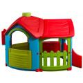 Marian Plast Домик - Вилла с пристройкой (голубой, зеленый, красный) 662