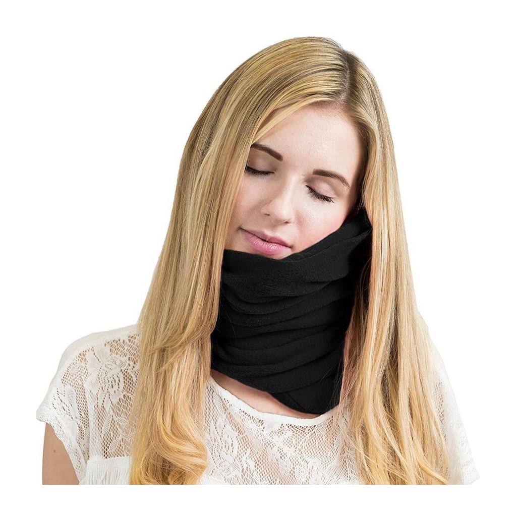 Подушка для путешествий RoadLike Scarf Pillow, черная