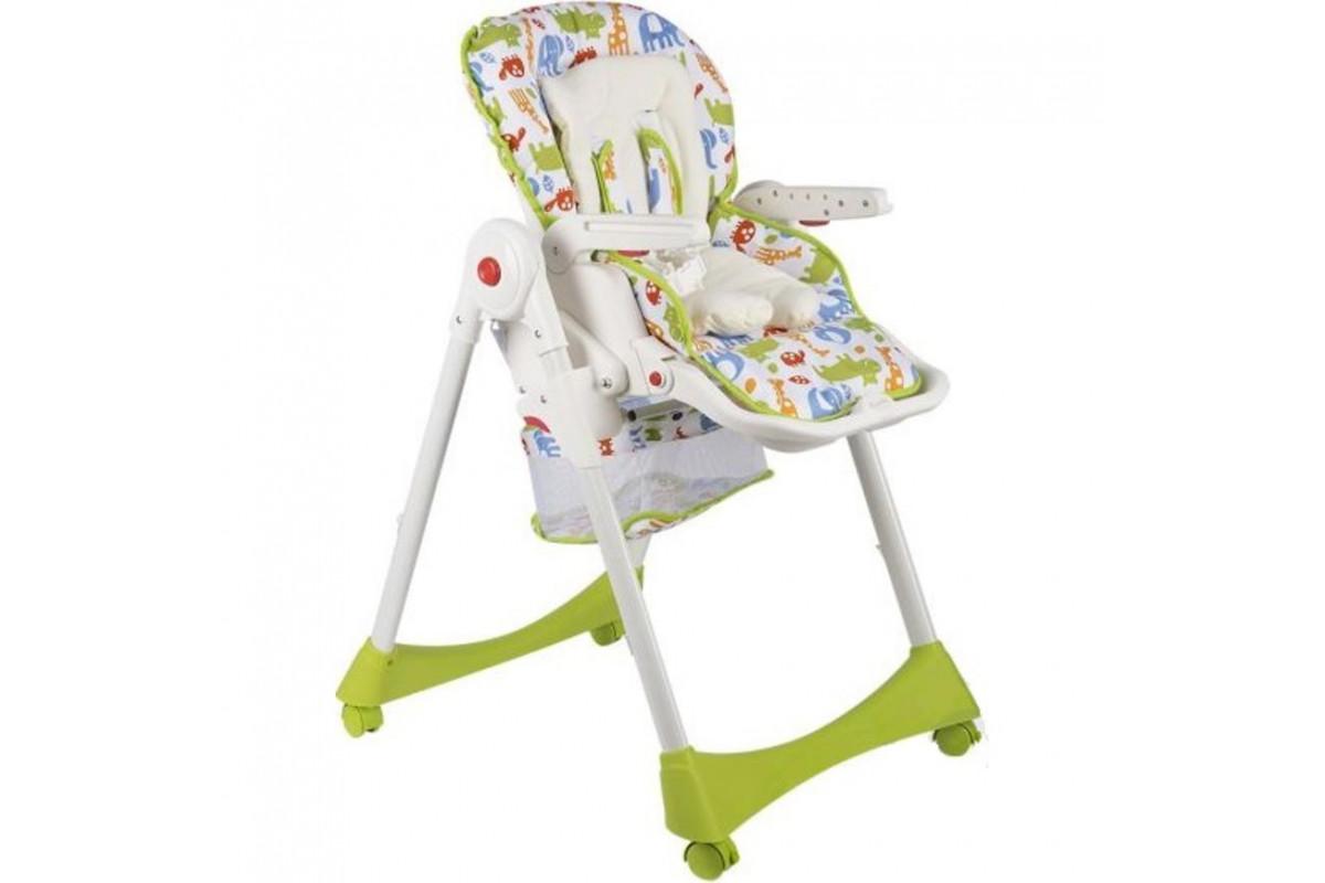 Capella S-205 - стульчик для кормления с корзиной для игрушек (зеленый)
