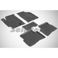 Коврики в салон резиновые с высоким бортом Seintex для  KIA RIO 2005-2011, 82207
