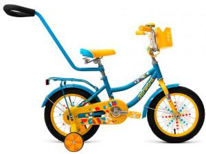 "Велосипед 14"" Forward Funky 17-18 г Желтый"