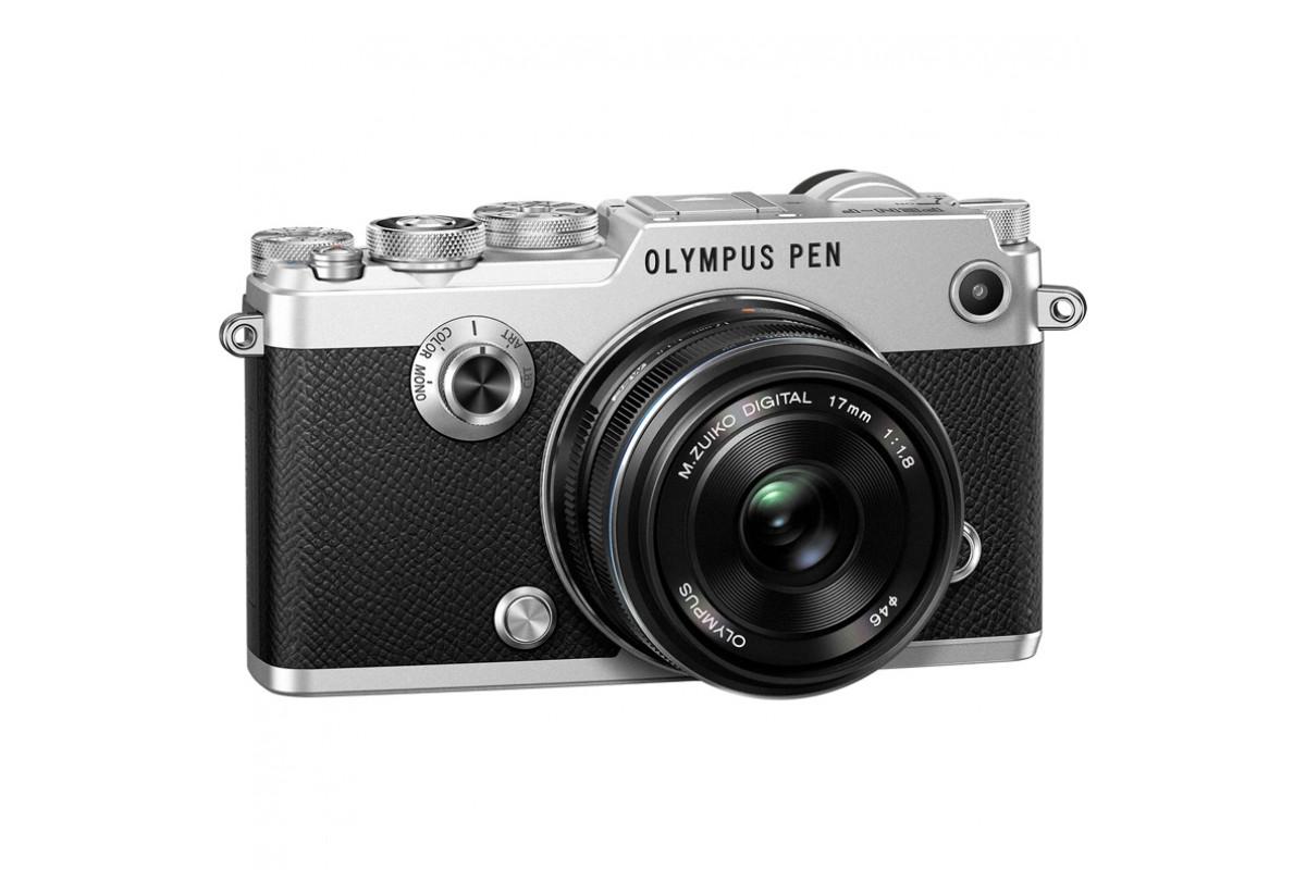Фотоаппарат Olympus Pen F Kit 17mm f/1.8, серебро