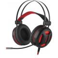 Игровая гарнитура Redragon Minos красный + черный, кабель 2 м