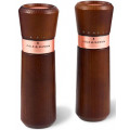 Набор мельниц для перца и соли Lyndhurst Chestnut & Rose Gold 185мм 2 шт. Cole & Mason