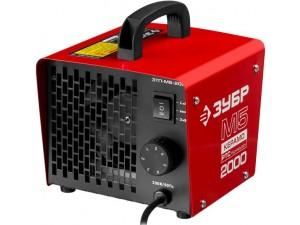 Пушка тепловая М5-Керамо, ЗУБР ЗТП-М5-2000, электрическая, РТС керамический нагревательный элемент, регулировка темп., 2 режима работы, 220В