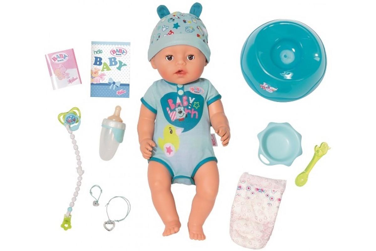 Zapf Creation Baby born Кукла-мальчик Интерактивная, 43 см 824-375