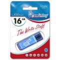 flash накопитель Smartbuy 16GB Glossy series Blue, синий