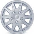 """Колпаки на колёса AUTOPROFI, PP пластик, регулировочный обод для разн. типов дисков, компл. из 4 шт., цветн. коробка, металлик, разм. 14"""" (350мм),, 1/4"""