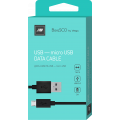 Дата-кабель BoraSCO USB - Micro USB, 2А 1м, черный