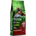 Monge Dog BWild GRAIN FREE беззерновой корм из мяса ягненка с картофелем и горохом для взрослых собак всех пород 12 кг