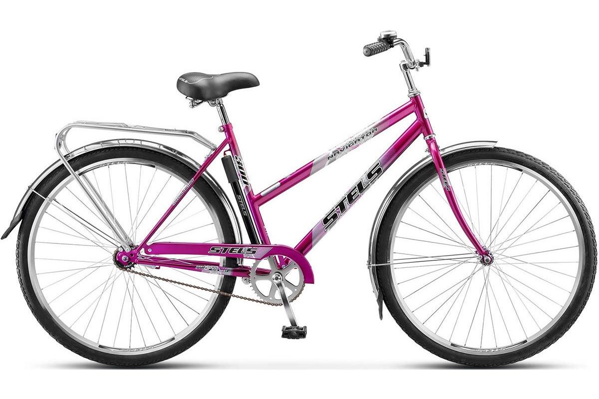 """Велосипед Stels Navigator 28"""" 300 Lady Z010 (с корзиной) (LU085342) Фиолетовый"""