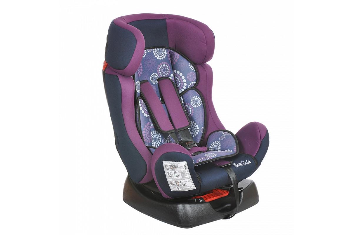 BamBola Piloto - детское автокресло 0-25 кг одуванчик фиолетово-синее