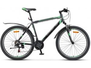 "Велосипед Stels Navigator 600 V V030 Черный/Зеленый (LU086294) 18"""