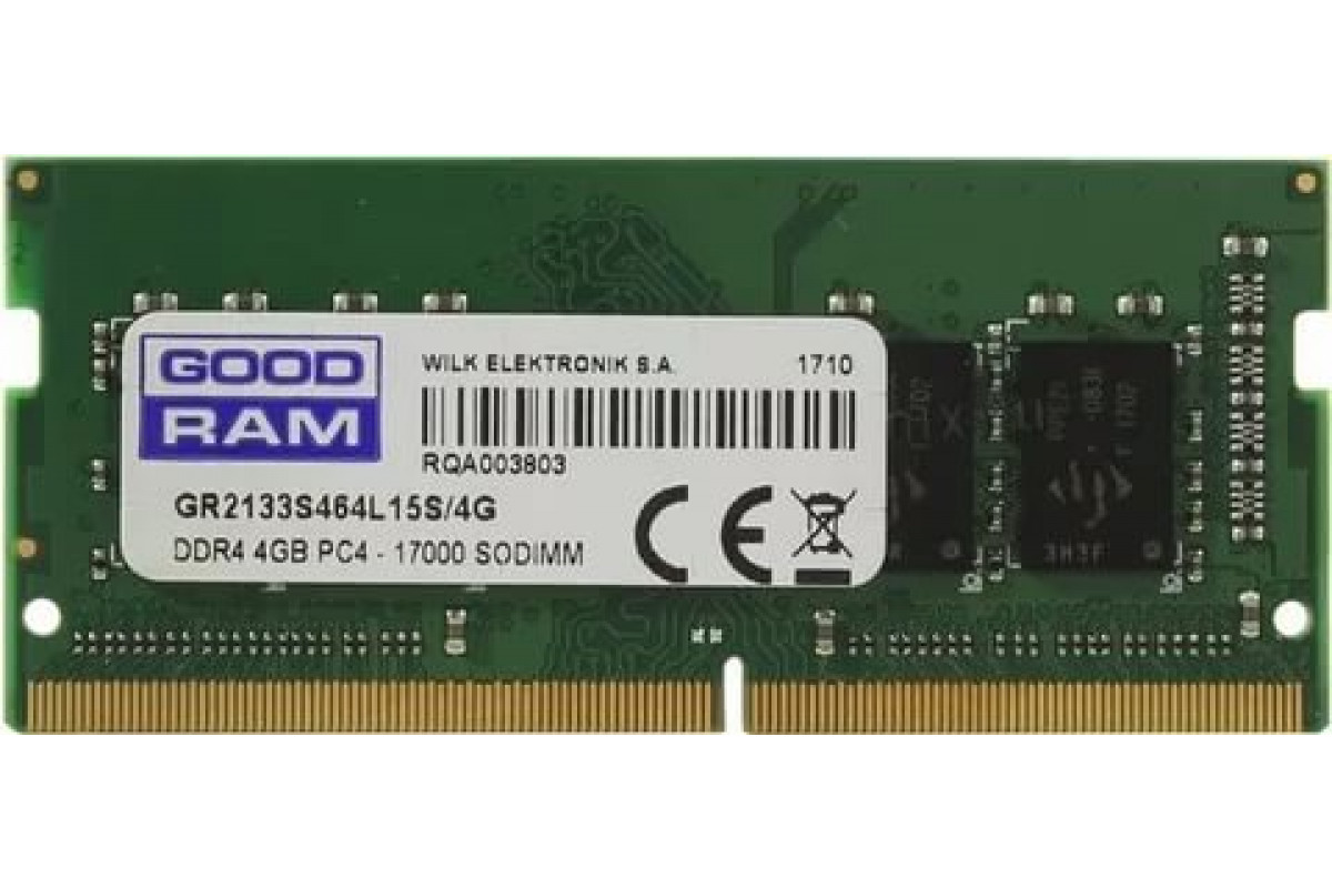 Память оперативная DDR4 4Gb Goodram GR2133S464L15S/4G SODIMM 2133 MHz