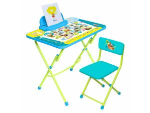 Набор мебели Ника Пушистая Азбука (стол с мягким стульчиком) КУ2ПА