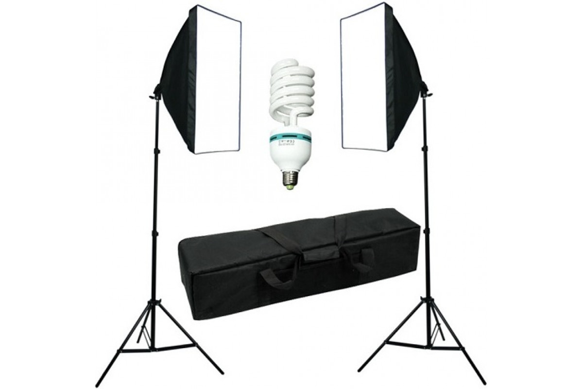 Комплект постоянного света FST ET-462 KIT флюоресцентный с сумкой 8020