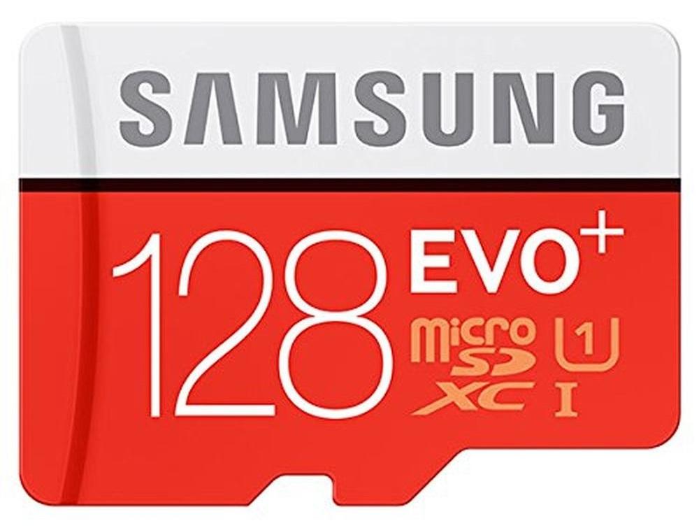 Карта памяти Samsung EVO PLUS microSDXC 128Gb Class 10 UHS-I U1 (100/90Mb/s) + ADP