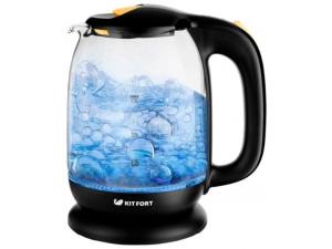 Чайник электрический Kitfort КТ-625-3 черный/оранжевый