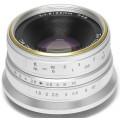 Объектив 7Artisans 25mm F1.8 Sony E серебро