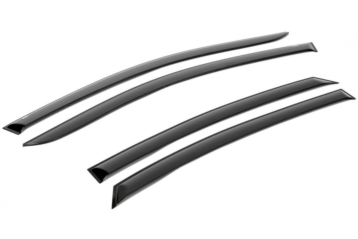 Дефлекторы Rival для окон Kia Rio III седан 2011-2017, поликарбонат, 4 шт., 728102