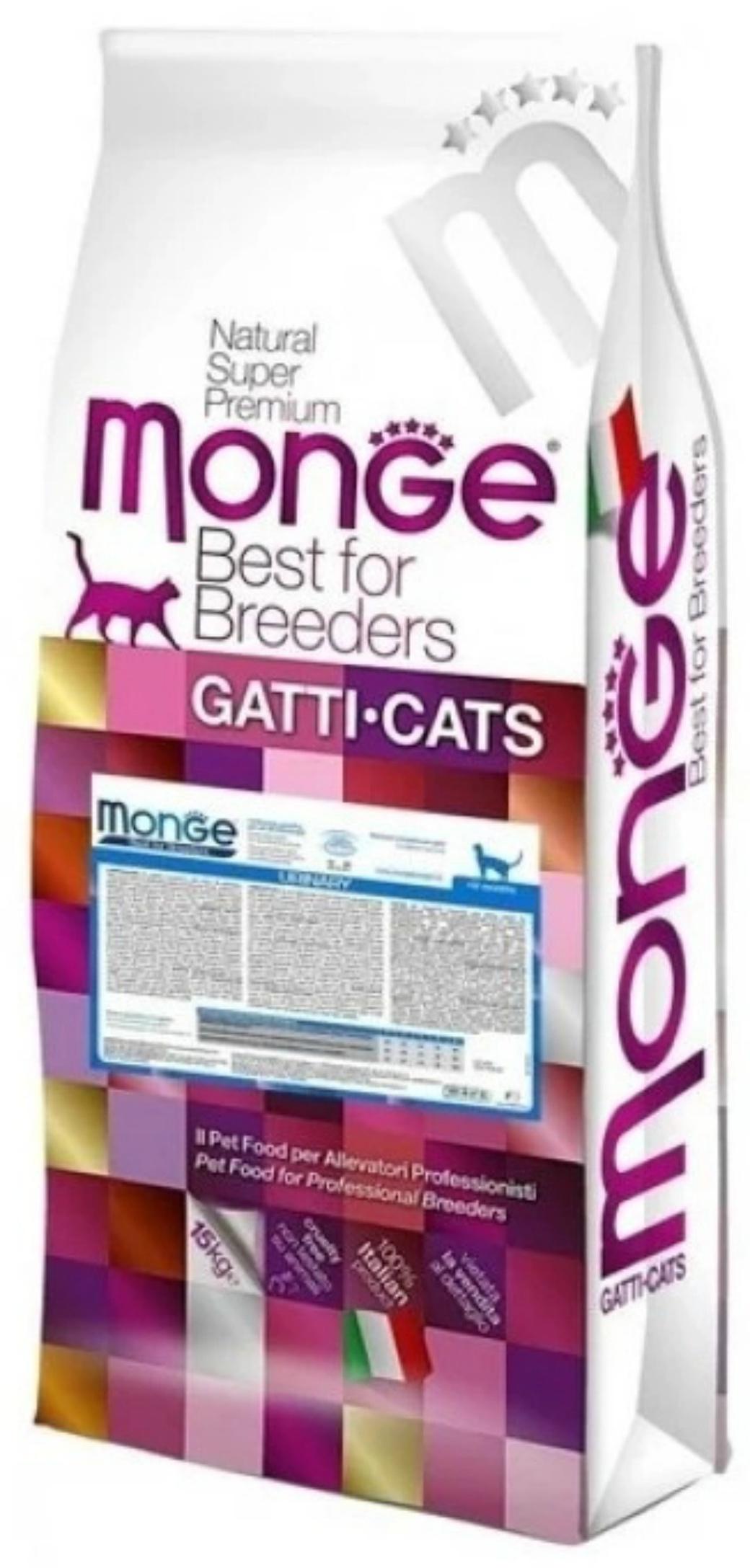 Monge PFB Cat BWild LOW GRAIN низкозерновой корм из мяса зайца для взрослых кошек 10 кг