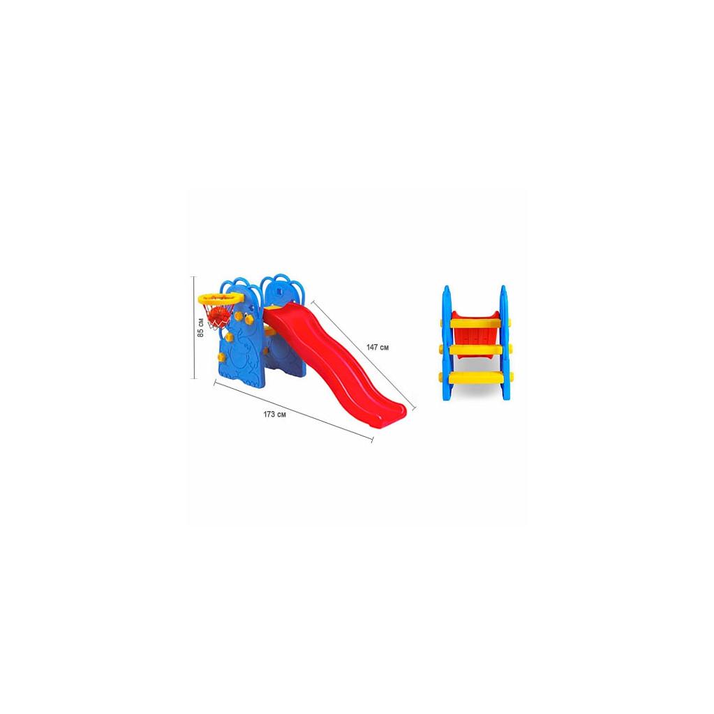 Edu-Play WJ-311 Слоненок - горка волнистая с баскетбольным кольцом