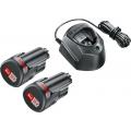 Батарея аккумуляторная Bosch GAL 1210 CV 12В 1.5Ач Li-Ion 2шт (З/У в компл.) (1600A01L3E)