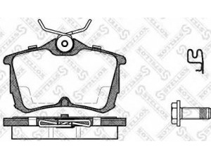 Колодки тормозные задние VK TECHNOLOGY VT 32081 для HONDA ACCORD 05-