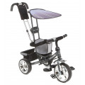 Capella Town Rider - детский трехколесный велосипед с колесами EVA Graphite (темно-серый)