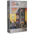 Часы наручные аналоговые Lego Jurrasic World: Fallen Kingdom (Лего Мир Юрского периода: Павшее Королевство) с минифигурой Owen на ремешке
