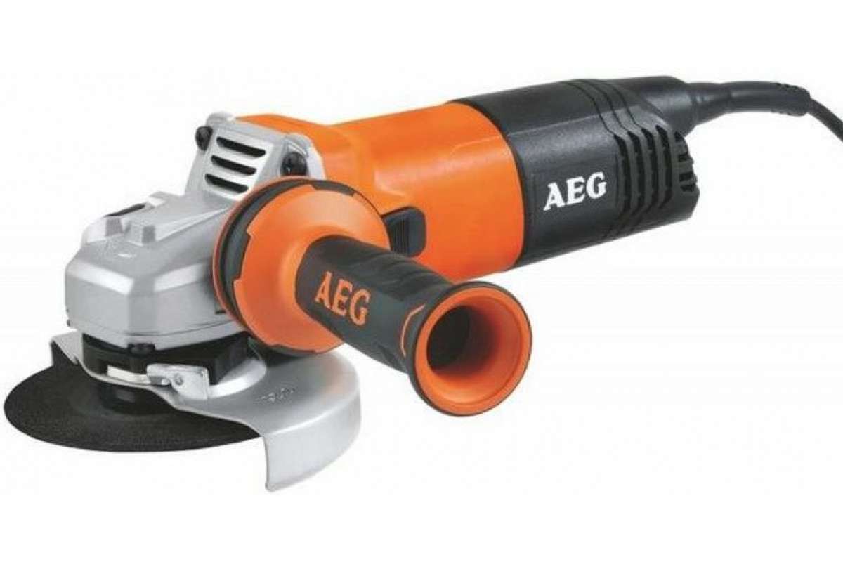 Углошлифовальная машина (болгарка) AEG 451301 WS 10-125  ф125мм 1000Вт 11500об\м 2.3кг кор б\ключ кожух avs боковая рукоятка