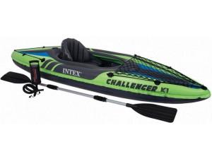 Intex Лодка CHALLENGER K1 KAYAK, одноместная 68305